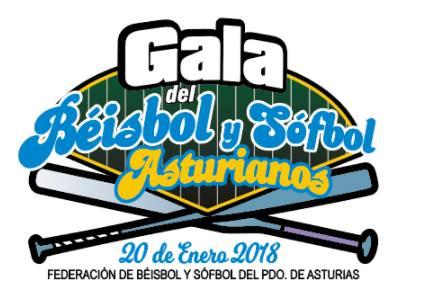 867dc50e19ef7 El pasado sábado día 20 se celebró la gala del Béisbol y SóftbolL  asturianos en la que se entregaron los premios de las temporadas 2016 y  2017.