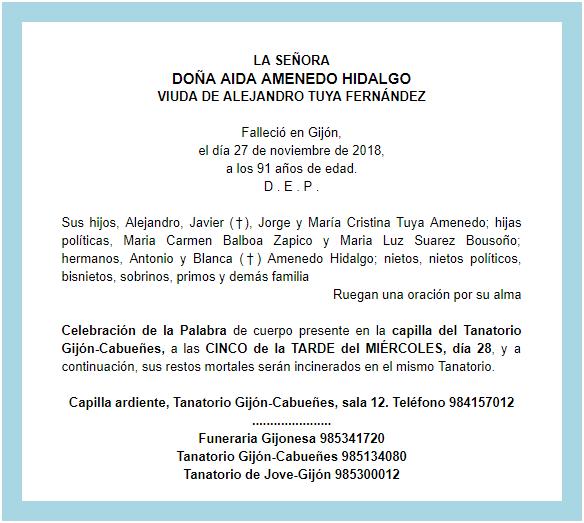 Ha Fallecido La Madre De Alejandro Jorge Y Cristina El Llano